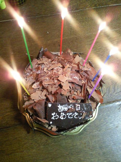 私の誕生日に